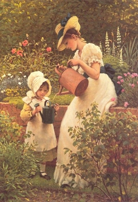 The Young Gardener - Leslie George Dunlop