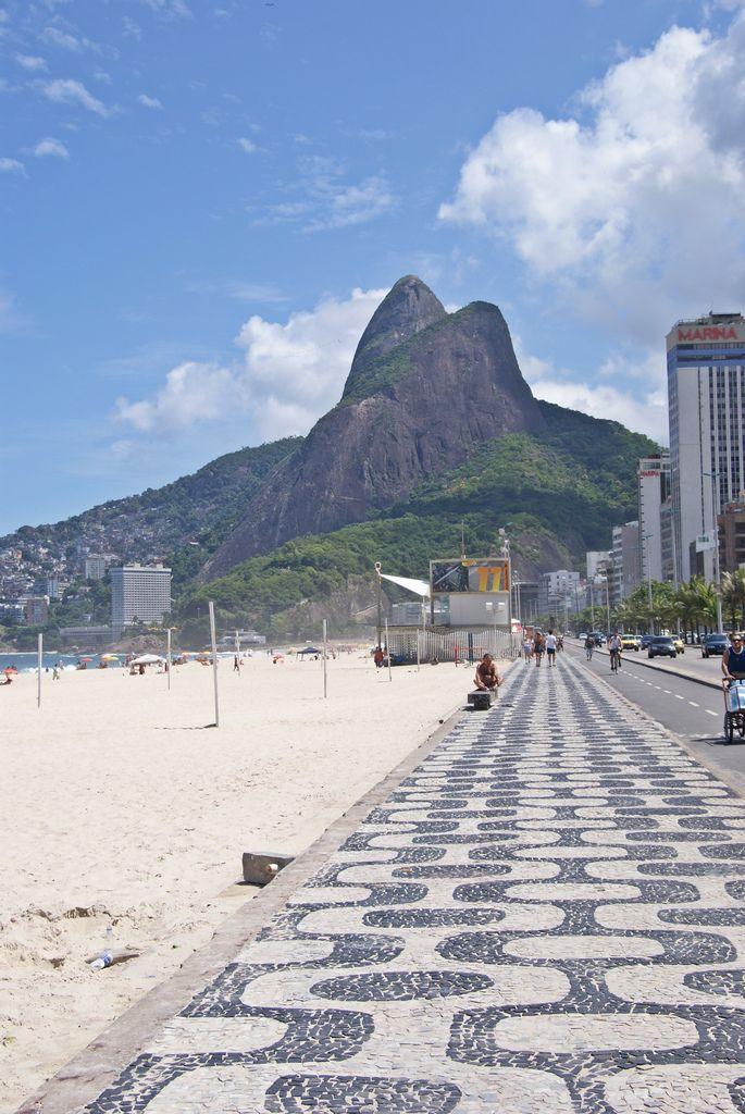 Ipanema Sidewalk, Rio de Janeiro, Brazil.