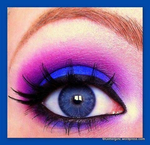 The lovely blue, is Makeup Geek's eyeshadow in Neptune!
