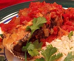 Tarragon and Tomato Poached Halibut with Cilantro Lemon Rice - Canned ...