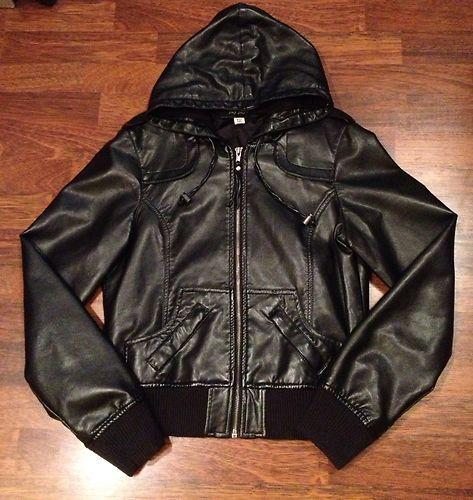 Details about Jay Jays Faux Leather Jacket - Sz 8