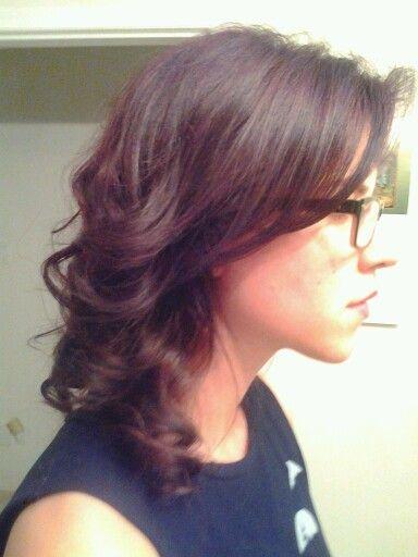Dark Brown With Burgundy Lowlights   Dark Brown Hairs