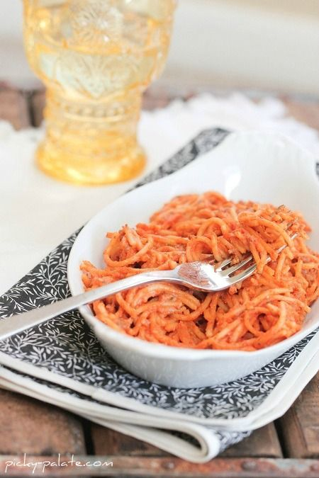 Creamy Crock Pot Spaghetti - Picky Palate