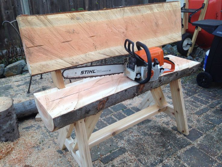 Log Bench Ripped With Chainsaw Future Home Pinterest