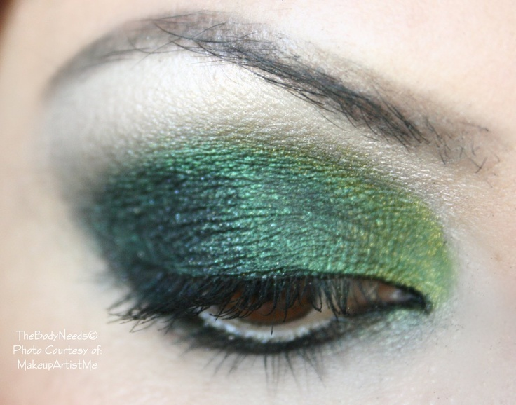 """""""Nova Vert""""  TBN's Blackened Emerald, Chalet Green, Iced Citrus, Black Glitter and MAC Coconutty on lips.  https://www.facebook.com/pages/MakeupArtistMe/175339565901767"""