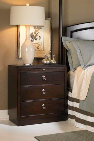 The Alston Nightstand In An Espresso Finish Crafted From Solid