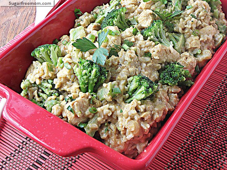 Coconut chicken curry with broccoli and brown rice   Recipes ...