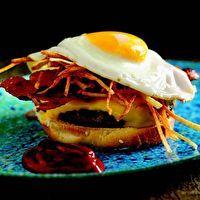 Breakfast Burger by Bobby Flay   Burgers   Pinterest