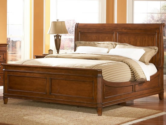 detail for king size sleigh bed cotswold manor by liberty furniture