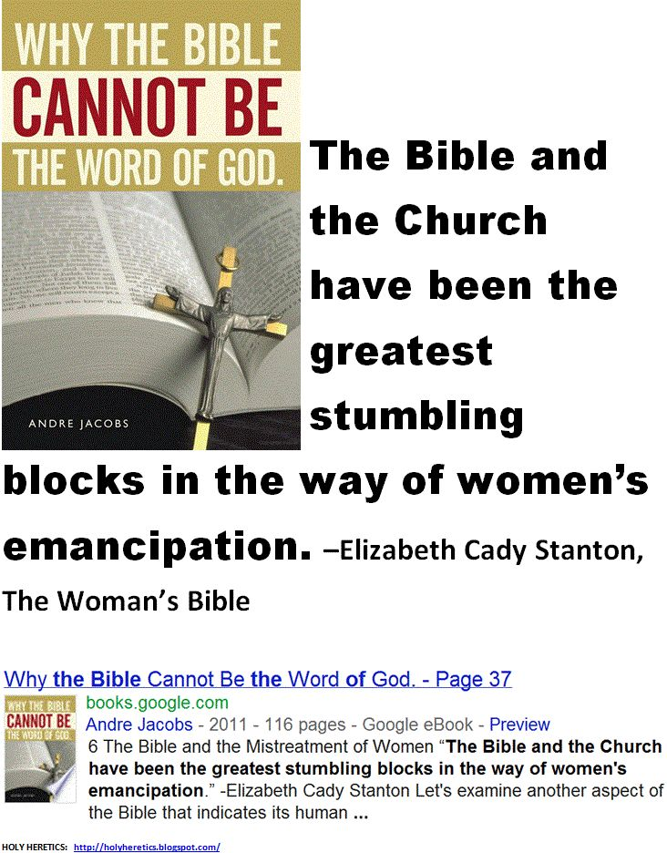 "an overview of the womans emancipation in the bible 8 thoughts on "" summary: the bible on women and authority apologetics authority bible bible overview biblical interpretation biblical literacy biblical theology."