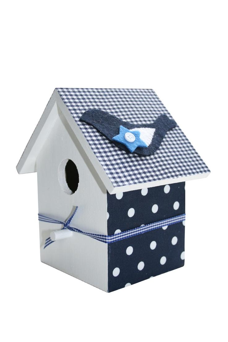 Decoratie #vogelhuisje #kinderkamer #blauw #birdhouse #kidsroom #blue ...