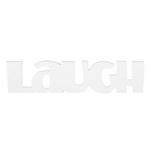 Amazon.com: Darice 9182-67 Wood Cutout, Laugh Sign, White: Home