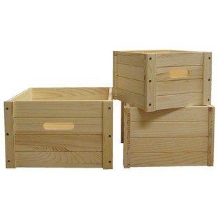 Wood square box set shop hobby lobby hobby lobby for Wooden crates hobby lobby