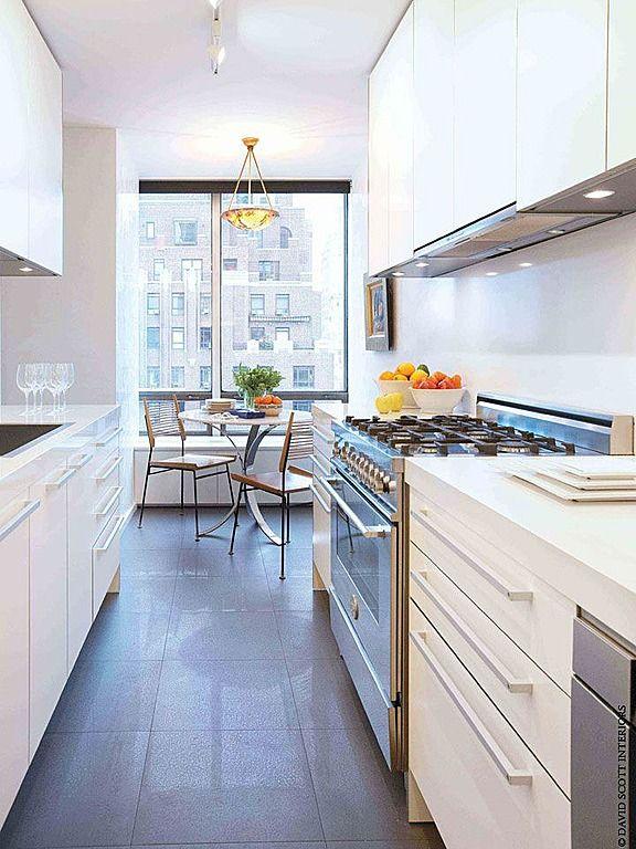 Best White Modern Galley Kitchen Great Kitchens Pinterest 400 x 300