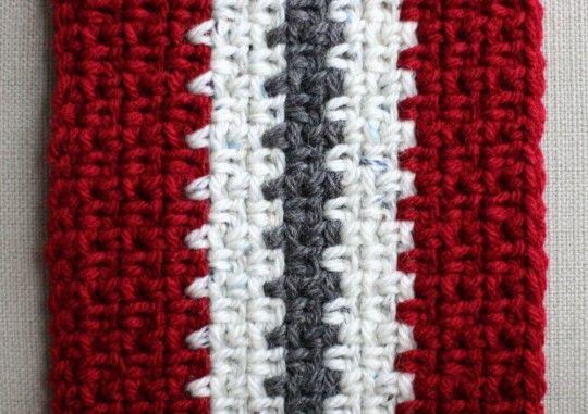 Free Knitting Pattern Vertical Stripe Scarf : Vertical Stripe Crochet Scarf (Unisex) - Eating Out Loud! Crocheting & ...