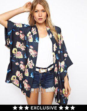 Love Kimono In Floral Print