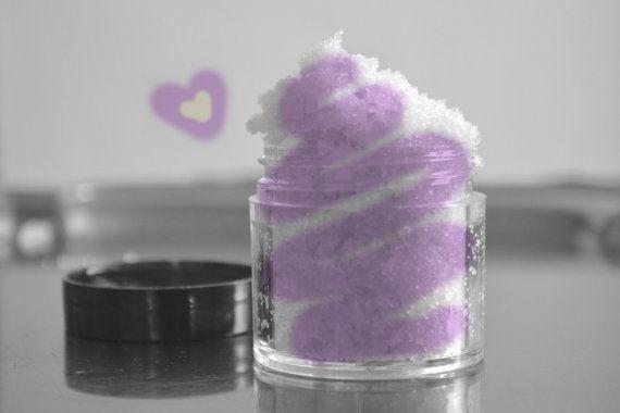 Lavender Vanilla lip scrub, sugar scrub with organic coconut oil, bath ...