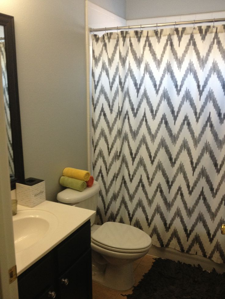 West elm chevron shower curtain and rugs