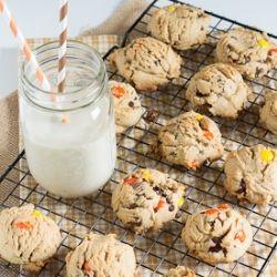 Triple Peanut Butter Cookies recipe   Fooood.   Pinterest
