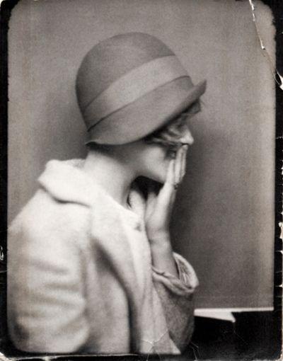 1920's woman in cloche.