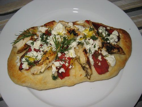 ... Lemon and Dill Marinated Grilled Chicken, Roasted Red Peppers and Feta