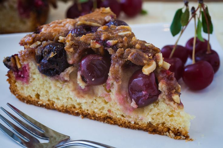Sour Cherry & Cream Cheese Coffee Cake - The Crepes of Wrath - The ...