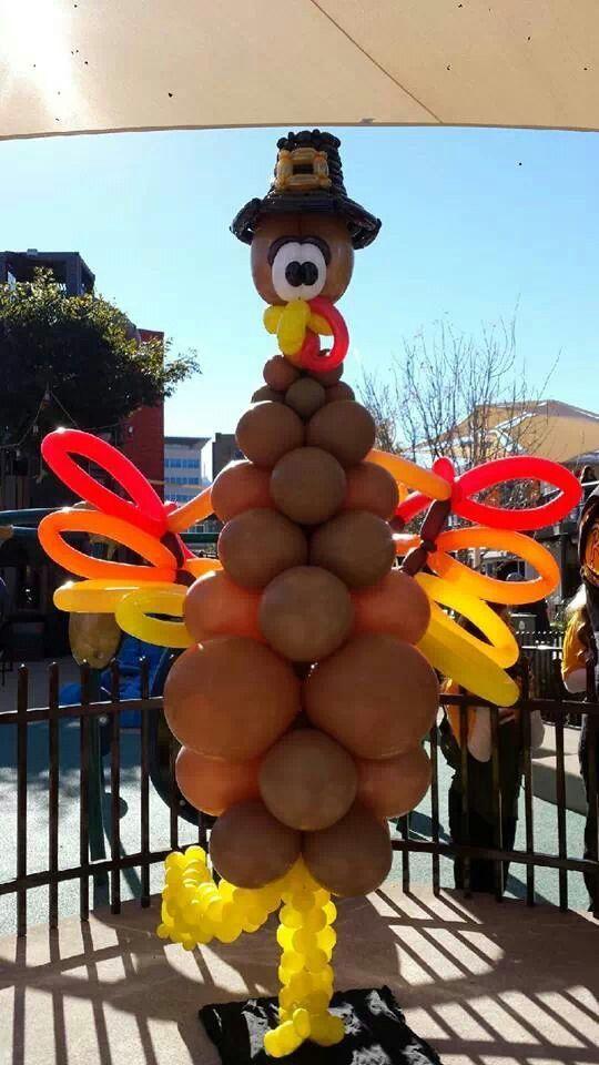 Turkey balloon decorations pinterest