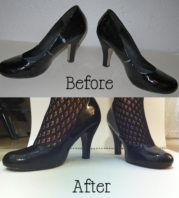 using vinyl spray paint to paint patent leather shoes. Black Bedroom Furniture Sets. Home Design Ideas