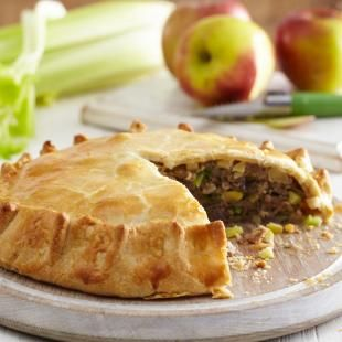 Sausage, Apple and Celery No Dish Pie http://www.nationalbakingweek.co ...