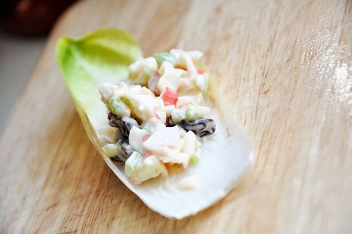 Light and Creamy Crab Salad on Endive. We could use crab salad from a ...