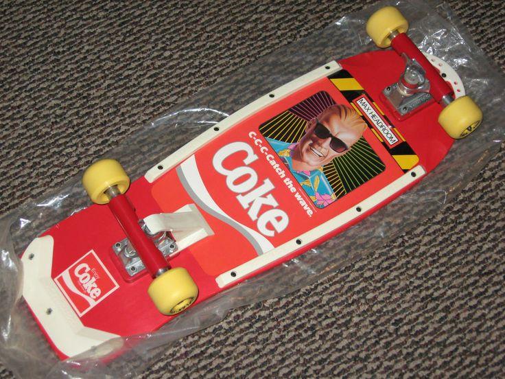 """Coca~Cola, Coke """"Max Headroom"""" Skate Board, all original ..."""