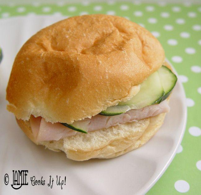 Turkey and Cucumber Sandwiches   FOOD!   Pinterest