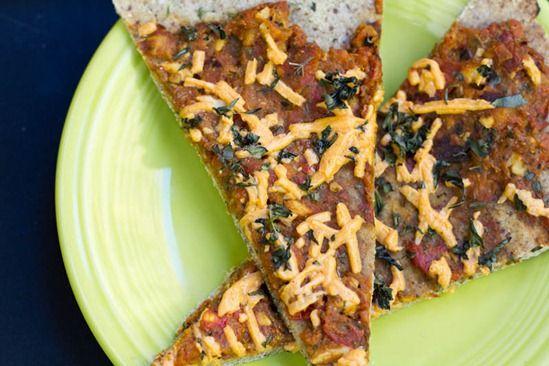 Gluten-Free Almond & Buckwheat Flour Pizza with Roasted Tomato Basil ...