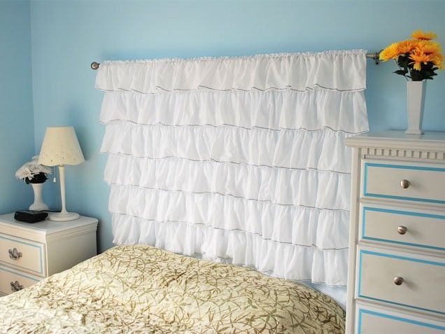 Ruffles Headboard...great idea!