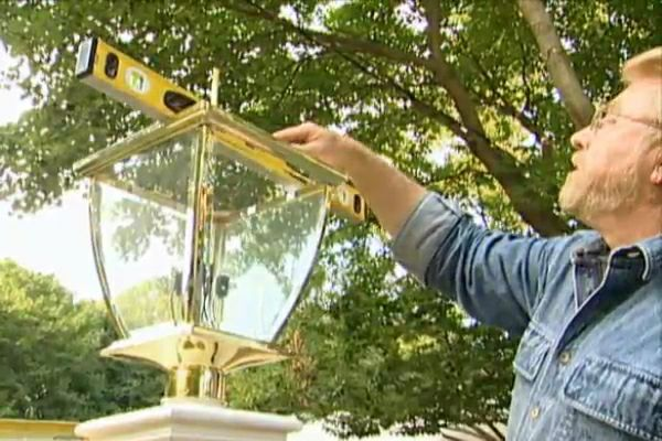 how to install an outdoor lamp post do it yourself