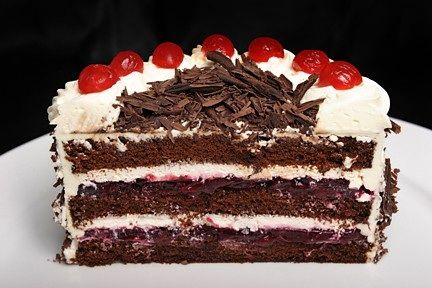 Black Forest cake consists of several layers of chocolate cake, with ...