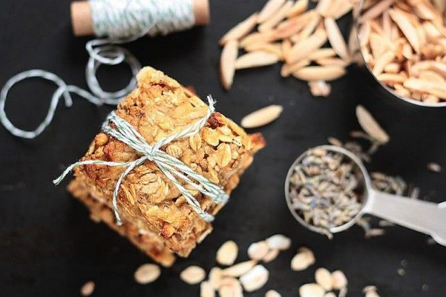 lavender oatmeal squares