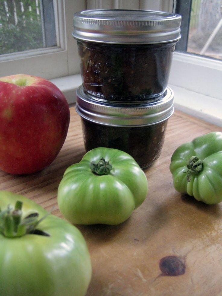 Green Tomato-Apple Chutney Recipe — Dishmaps