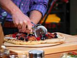 ... Grilled Dessert Pizza (mascarpone, plums, raspberries, blackberries