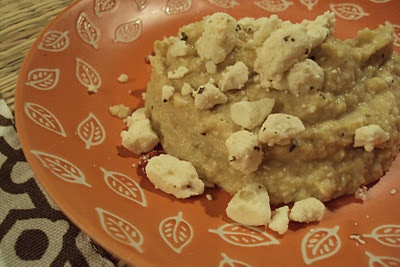 Artichoke Hummus - full of flavor and fiber, low on fat!