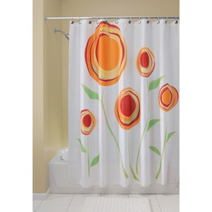 Curved Tension Shower Curtain Rod Red Ginger Shower Curtain