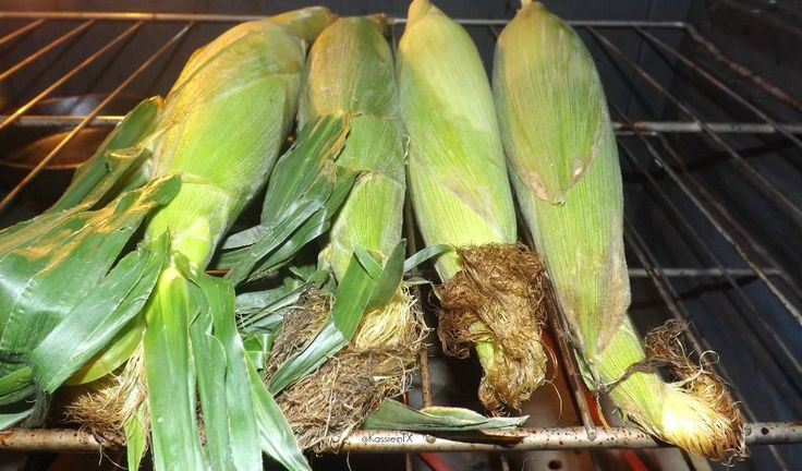 Oven Roasted Corn on the Cob. Serve with butter, cilantro, salt and ...