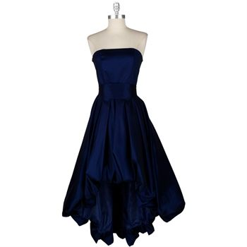 Midnight blue color bridesmaid dress wedding ideas for Midnight blue wedding dress