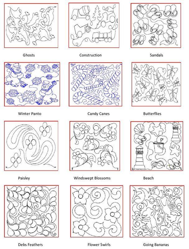 longarm quilting machine patterns