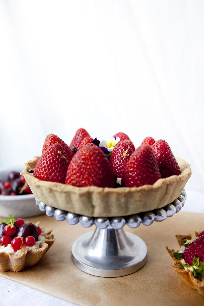 Strawberry, Red Currant, and Mint Tart with Mascarpone & Lemon | # ...