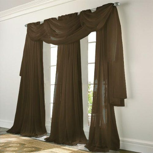 Elegance Voile CHOCOLATE BROWN Sheer Curtain by N/A. $5.97. These ...