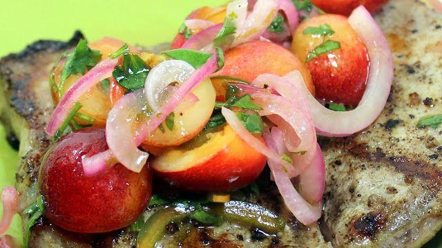 ... : Rainier Cherry Salsa for a Pork Chop - Grilling Time Condiment
