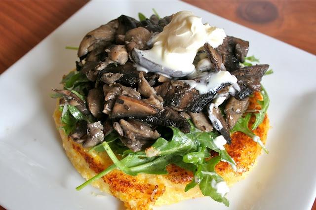 Warm Mushroom Salad with Crispy Polenta   Food   Pinterest