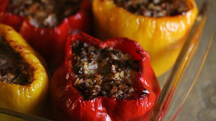 Mom's Stuffed Bell Peppers | Food & Drink that I love | Pinterest