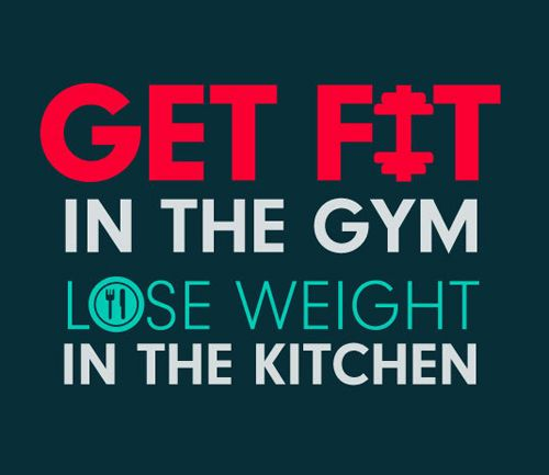 -get fit in the gym. lose weight in the kitchen.